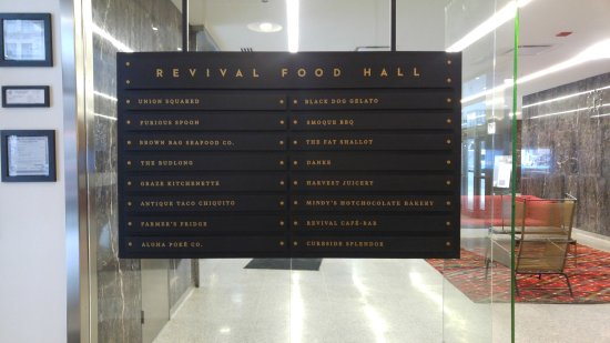 Great food court concept  Great foodie options  In the heart