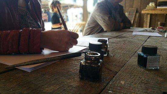 Montbazon, Francia: Calligraphie (du super proffff)