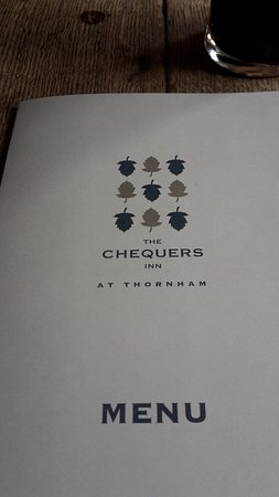 Thornham, UK: menu