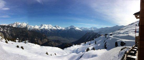 Belalp, Suiza: Blick nach Süden ins Simplongebiet