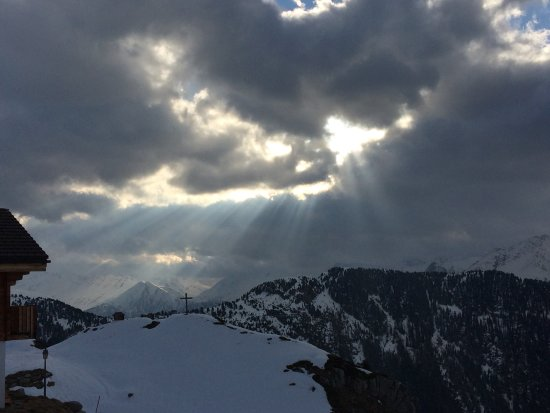 Belalp, Suiza: Blick gegen Rinderalp