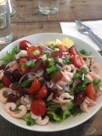 Arendal, Νορβηγία: Salat med reker