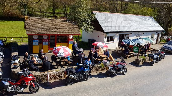 Withypool, UK: One of many biking groups
