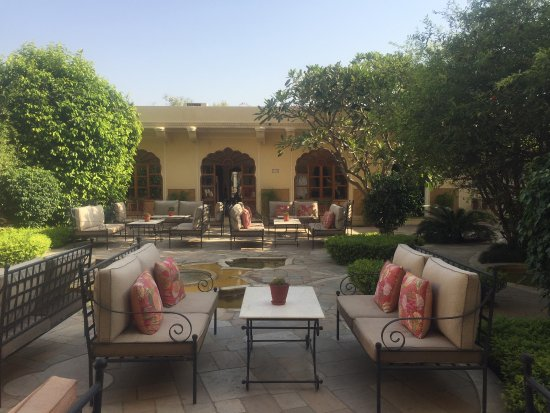 garden coffee lounge picture of samode haveli jaipur tripadvisor. Black Bedroom Furniture Sets. Home Design Ideas