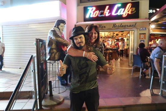 Rock Café Fuerteventura: The PR from rock cafe! super friendly and funny