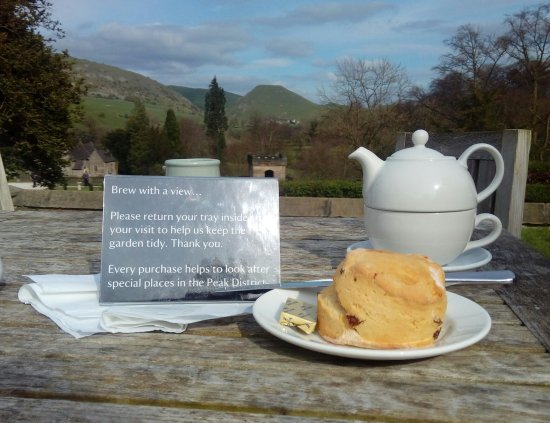 Ilam, UK: Brew with a view, and scone