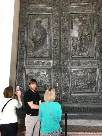 Italy Rome Tour: Bronze doors at the Vatican