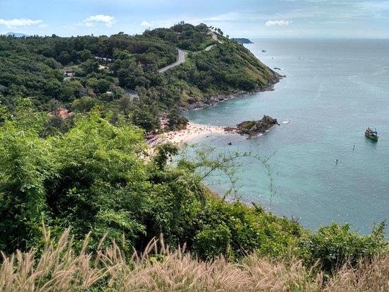 Rawai, Tailandia: Вид на пляж с обзорной точки