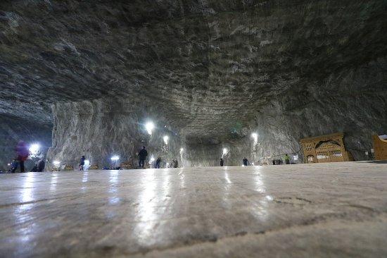 Praid, Roemenië: Inside the salt mine
