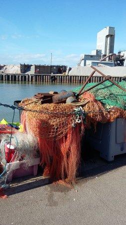 Whitstable, UK: Matériel de pêcheur