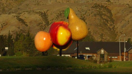 クロムウェル, ニュージーランド, 市内幹線道路から見えます