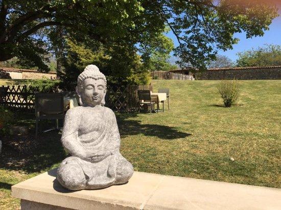 Amberieu-en-Bugey, فرنسا: Terrasse zen 