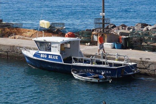 Windwardside, Saba: The Dive Boat (Big Blue)