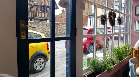 Charing, UK: View from table looking out front