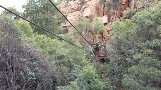 Magaliesberg Canopy Tour: One of the final, fast zips.