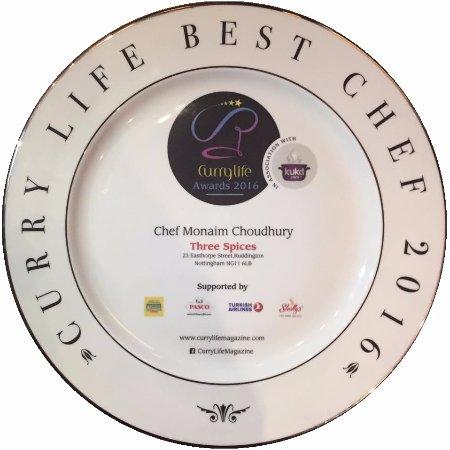 Ruddington, UK: Best Chef Award 2016