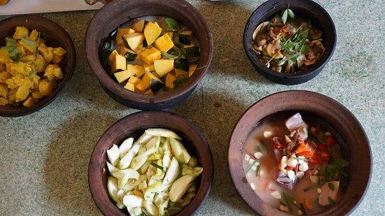 Gampola, Sri Lanka: Selbstgekochtes Curry