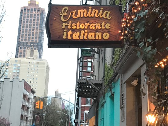Erminia Italian Restaurant New York City Yorkville Menu