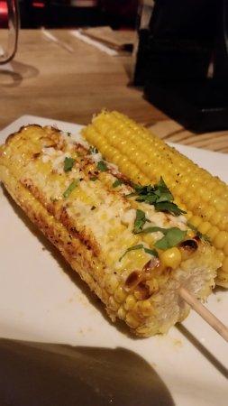 Dulles, VA: Roasted Street Corn...YUMMY!