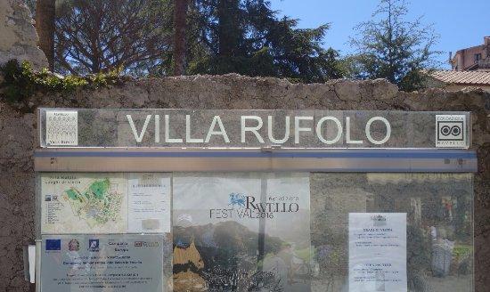 Villa Rufolo : Ingresso