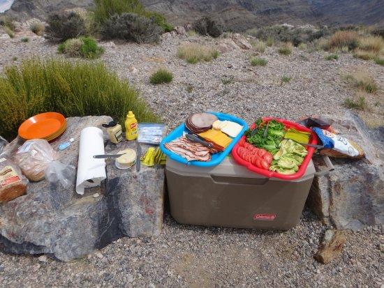Death Valley National Park, Californien: Lunch at Aguereberry Point