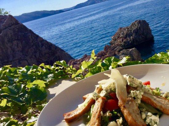 Przno, Montenegro: Best salad in Montenegro.