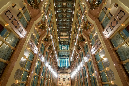 Madinah Hilton: Looking down from the top floor