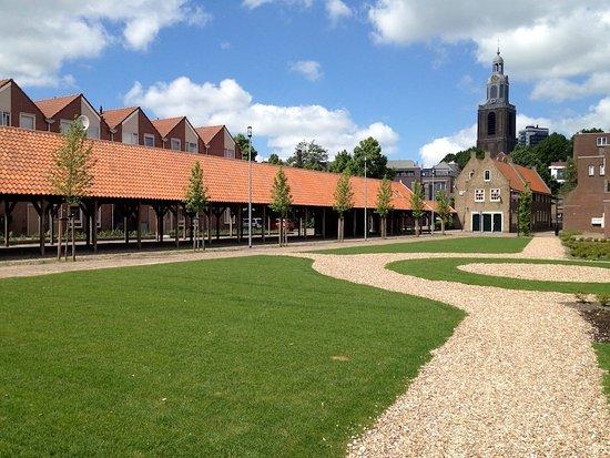 Vlaardingen, Hollanda:  Aanzicht vanaf Lijnbaanplantsoen