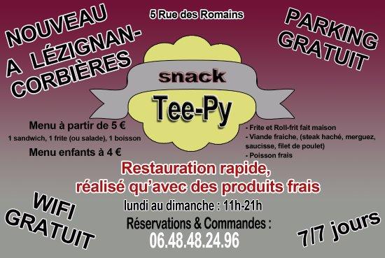 Teepy Snack Notre Carte De Visite
