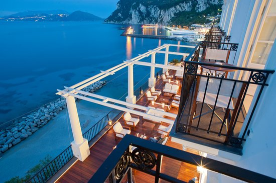 J.K.Place Capri: J.K. Place Capri Terrace with View of Marina Grande and Beach