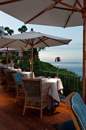 J.K.Place Capri: J.K. Place Capri JKitchen Restaurant. Terrace with Sea View