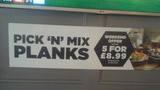 Chester-le-Street, UK: Don't expect the Weekend offer to include Sundays. Saturday is the only day for their weekend of