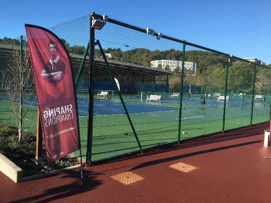 Sophia Antipolis, France: Mouratoglou tennis courts