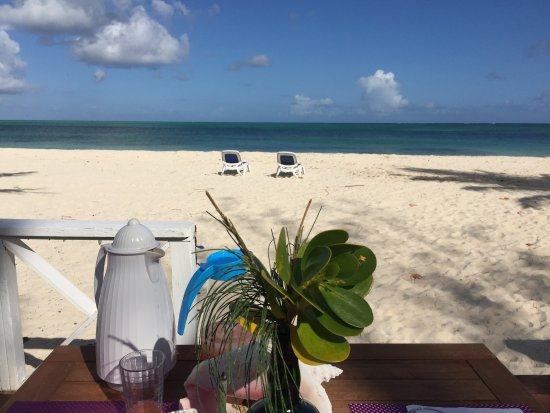 North Beach Island: breakfast table