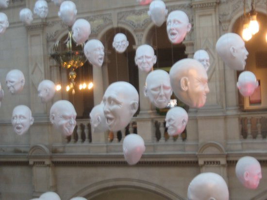 "Kelvingrove Art Gallery and Museum: ""Floating Heads"" - Kelvingrove, Glasgow"