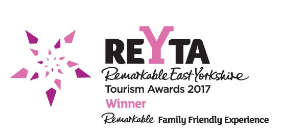 We are 2017 Visit Hull & East Yorkshire best family experience -