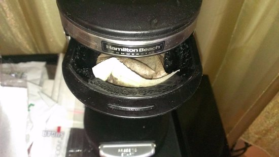 Used Coffee Filter From Last Guest Left In Coffee Maker Picture Of