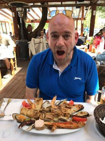 Almyrida, Grecia: Massive fish platter!