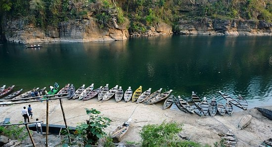 Meghalaya, Indien: Boats for every one