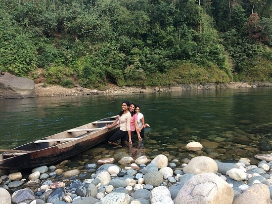 Meghalaya, Indien: This is our boat