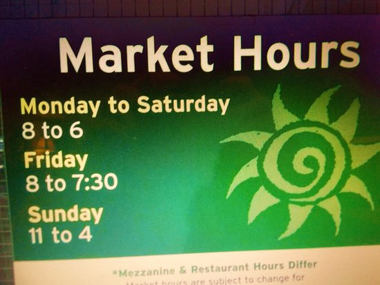 Covent Market: Hours