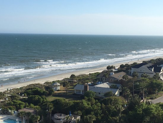 Myrtle Beach Marriott Resort & Spa at Grande Dunes: View from our 9th floor ocean-view room.