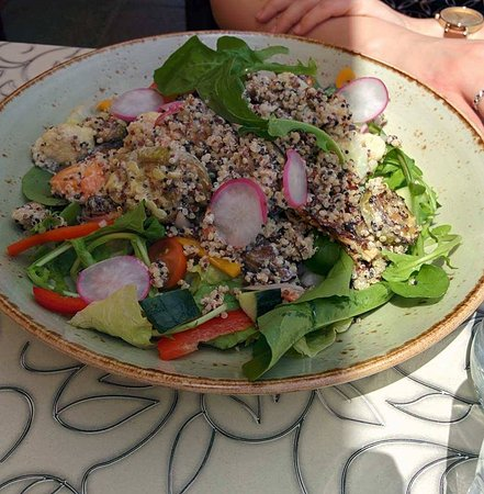Lovely quinoa and vegetable salad