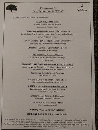 Laujar de Andarax, Spain: Menú del día 12/04/2017