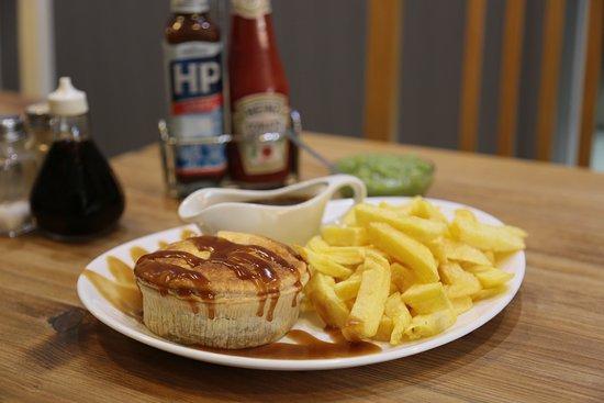 Crispy Cod : Pie,Chips and Gravy