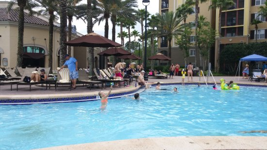 Hilton Grand Vacations at Tuscany Village: And now for some poolside lunch...!
