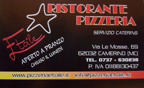 Camerino, Italy: biglietto da visita