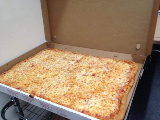 Delmar, MD : Party pizza. 24 slices. $20.99 for cheese, $3.50 per topping