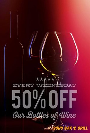 Middletown, NY: It's all about wine! Join us for Half Off Bottle Wednesday!