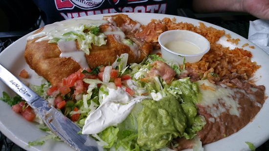 Antioch, TN: Chicken and Beef Chimichunga.. Freshly made.. With grilled meats... wow.
